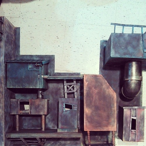 Parts of the town of Dungaree (installation pieces)